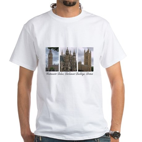 """""""Westminster Palace"""" White T-Shirt (Child - 4X)"""