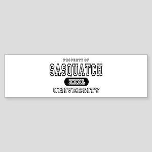 Sasquatch University Bumper Sticker