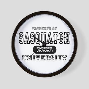 Sasquatch University Wall Clock