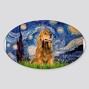 Starry Night/Cocker(#7) Rectangle Sticker