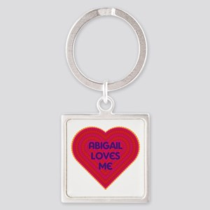 Abigail Loves Me Square Keychain