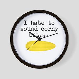 Funny Corny Joke Wall Clock