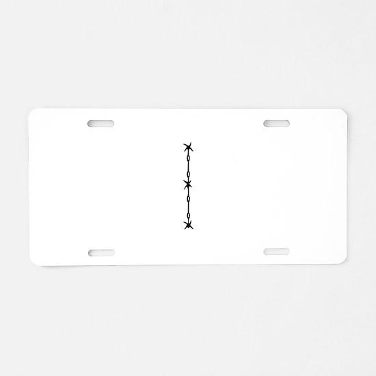 Barbed Wire Monogram I Aluminum License Plate