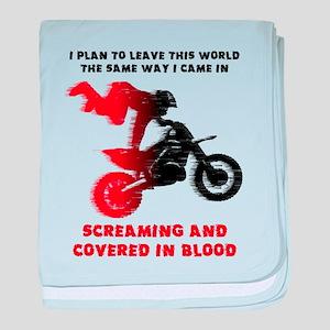 Screaming Blood Dirt Bike Motocross Funny baby bla