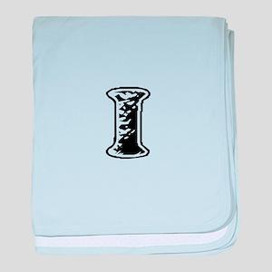 Scribbled Monogram I baby blanket