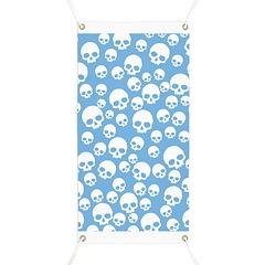 Light Blue Random Skull Pattern Banner