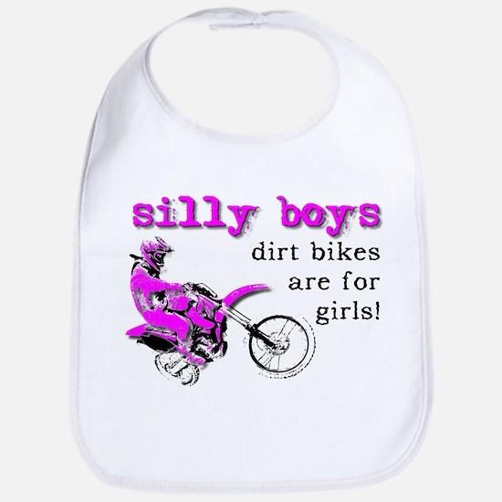 Dirt Bikes Are For Girls Motocross Bike Funny Bib