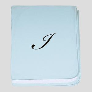 Bickham Script Monogram I baby blanket