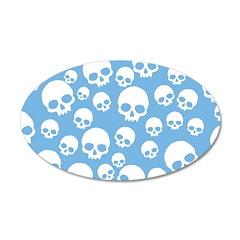 Light Blue Random Skull Wall Decal