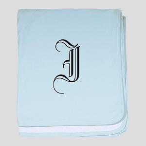 Blackletter Monogram I baby blanket