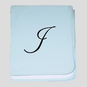 Champagne Monogram I baby blanket