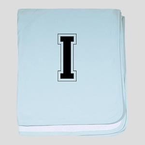 Collegiate Monogram I baby blanket