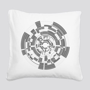 Bits and Bytes Square Canvas Pillow