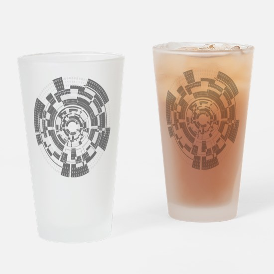 Bits and Bytes Drinking Glass