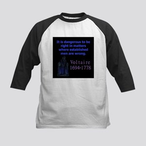 It Is Dangerous To Be - Voltaire Baseball Jersey