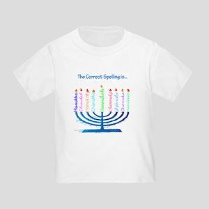Chanukah Spelling Toddler T-Shirt