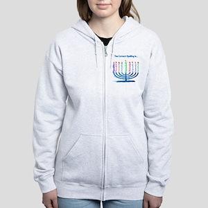 Chanukah Spelling Women's Zip Hoodie