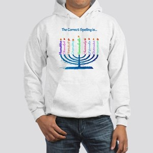 Chanukah Spelling Hooded Sweatshirt