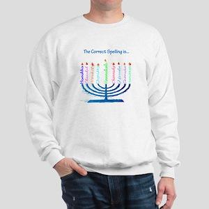 Chanukah Spelling Sweatshirt