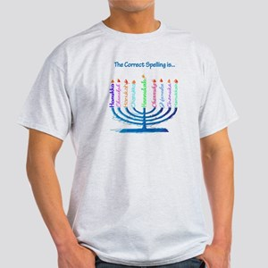Chanukah Spelling Light T-Shirt