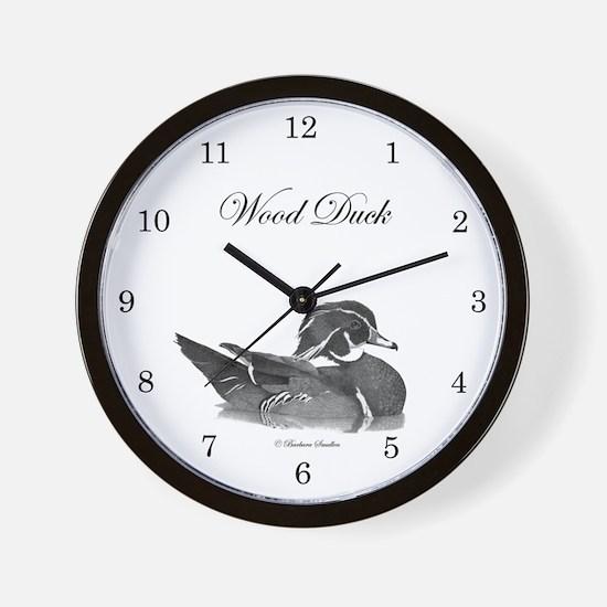 Wood Duck Wall Clock