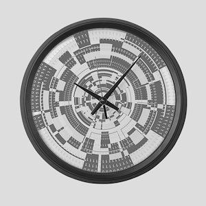 Bits and Bytes Large Wall Clock
