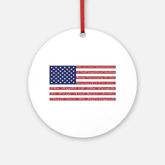 2nd Amendment Flag Ornament (Round)