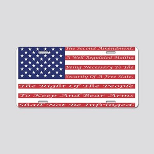2nd Amendment Flag Aluminum License Plate