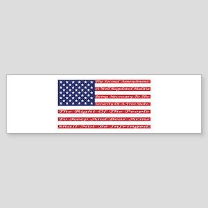 2nd Amendment Flag Bumper Sticker