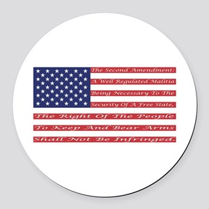 2nd Amendment Flag Round Car Magnet