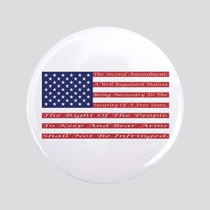 "2nd Amendment Flag 3.5"" Button"