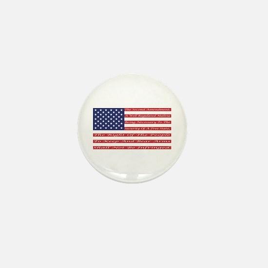 2nd Amendment Flag Mini Button