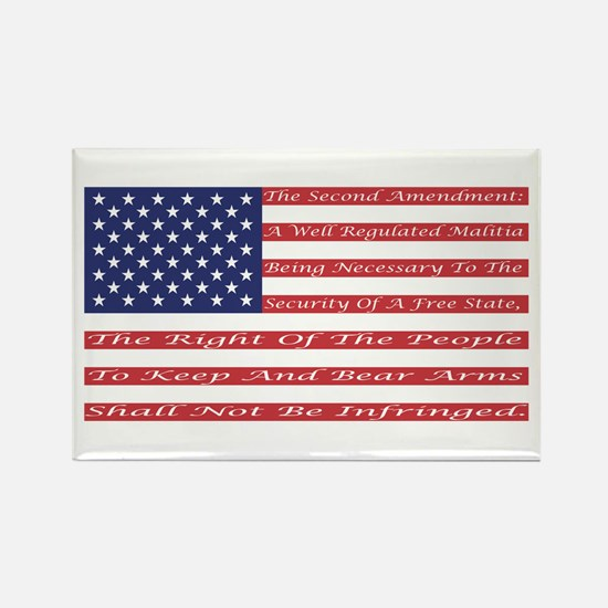 2nd Amendment Flag Rectangle Magnet (10 pack)