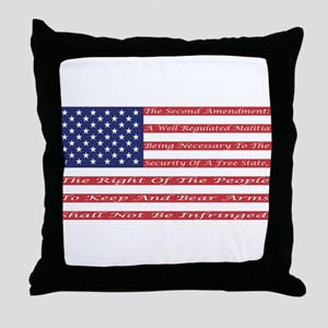 2nd Amendment Flag Throw Pillow