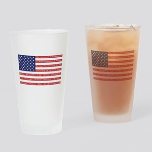 2nd Amendment Flag Drinking Glass