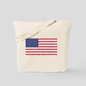 2nd Amendment Flag Tote Bag