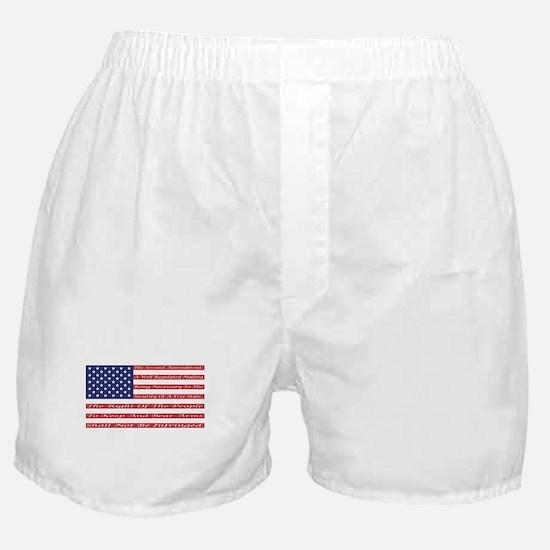 2nd Amendment Flag Boxer Shorts