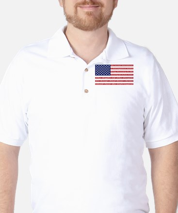 2nd Amendment Flag Golf Shirt