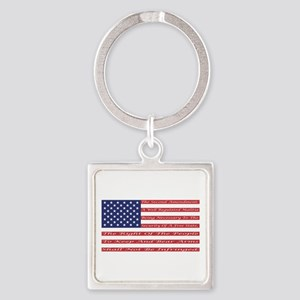 2nd Amendment Flag Square Keychain