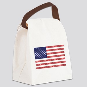 2nd Amendment Flag Canvas Lunch Bag