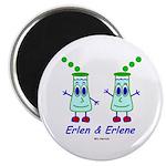 """Erlen & Erlene 2.25"""" Magnet (10 pack)"""