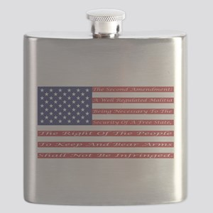 2nd Amendment Flag Flask