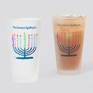 Chanukah Spelling Drinking Glass