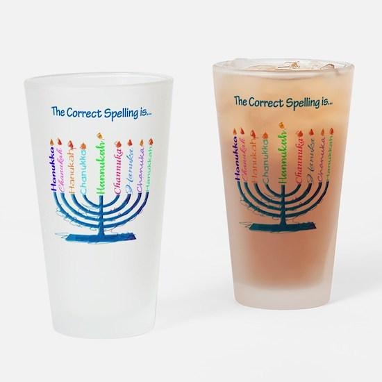 Chanukah Spelling Drinking Glass