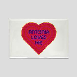Antonia Loves Me Rectangle Magnet