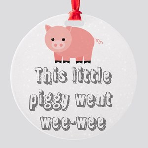 Funny Wee-wee Pig Ornament