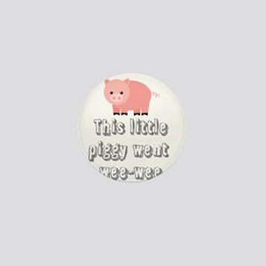 Funny Wee-wee Pig Mini Button