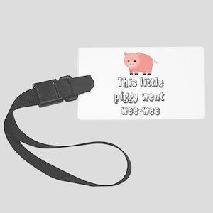 Funny Wee-wee Pig Luggage Tag