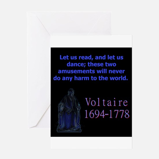 Let Us Read - Voltaire Greeting Cards