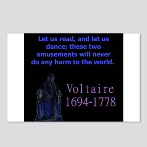 Let Us Read - Voltaire Postcards (Package of 8)